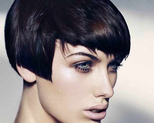 Short Bob Hairstyles – 40 Wonderful Examples   Design Press Regarding Sharp And Blunt Bob Hairstyles With Bangs (View 25 of 25)