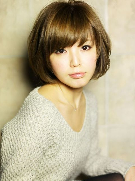Short Bob Hairstyles With Bangs For Asian Women | Short Hair Throughout Modern Bob Hairstyles With Fringe (View 17 of 25)