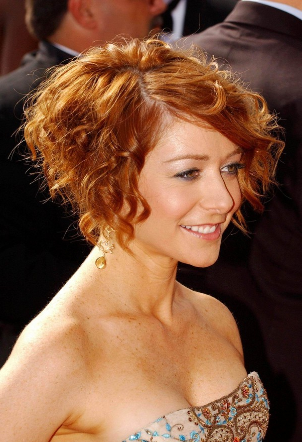Short Curly Bob Hairstyle – Copper Colored Short Cut From Throughout Cute Short Curly Bob Hairstyles (View 21 of 25)