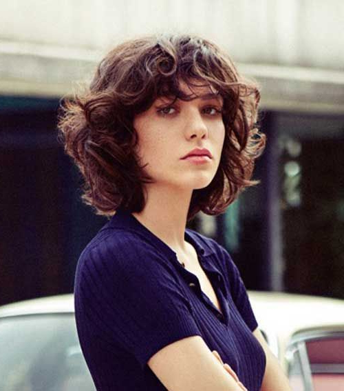 Short Curly Hairstyle   Ladies Style   Curly Hair Styles Regarding Vintage Bob Hairstyles With Bangs (View 18 of 25)