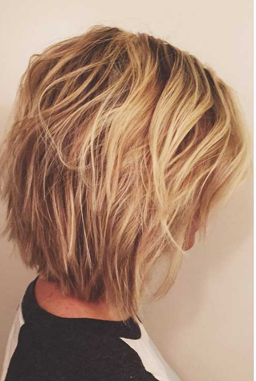 Short Layered Bob Pictures Within A Very Short Layered Bob Hairstyles (View 10 of 25)