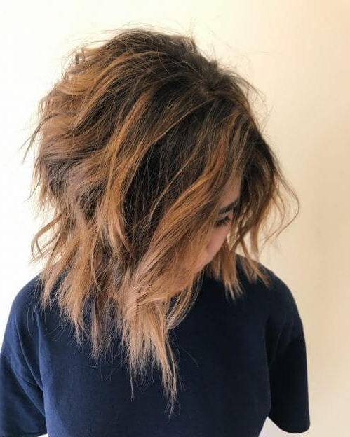 Short Layered Haircuts 2020 To Make A Fashion Statement Pertaining To Textured And Layered Graduated Bob Hairstyles (View 21 of 26)