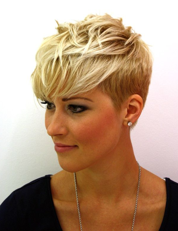 Short, Messy Looking, Blonde Hairstyle   Hairstyles   Hair Regarding 2018 Edgy Messy Pixie Haircuts (View 21 of 25)