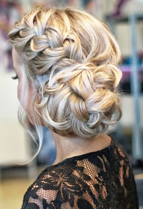 Side Braided Bun Wedding Hairstyle For Long Hair … | Hair Throughout Newest Plaited Chignon Braid Hairstyles (View 9 of 25)