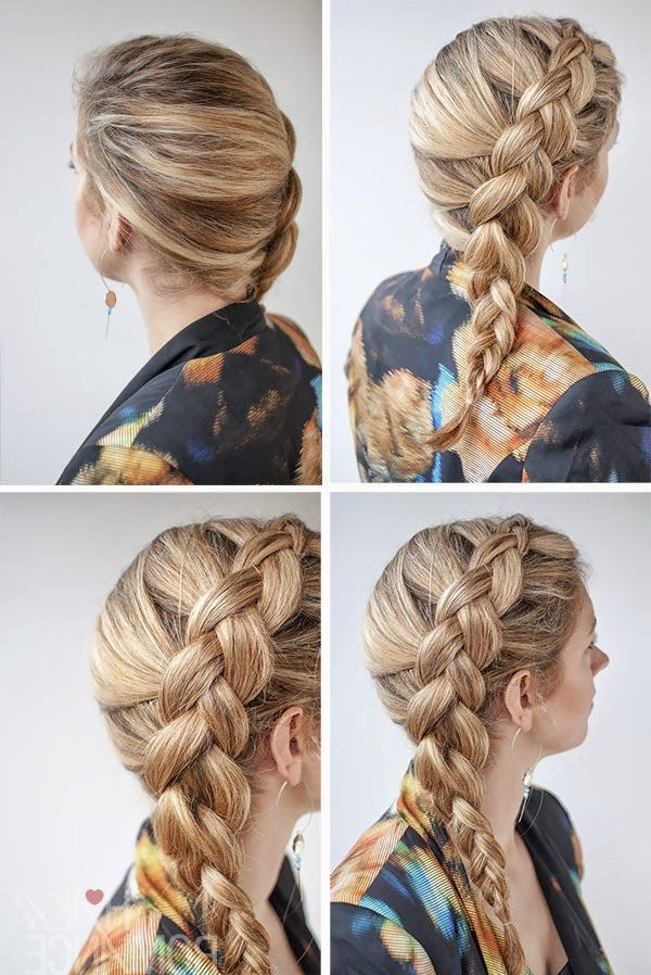 Side Dutch Braid Hairstyle Tutorial | Hair Romance, Hair Intended For Most Current Side Dutch Braid Hairstyles (View 4 of 25)