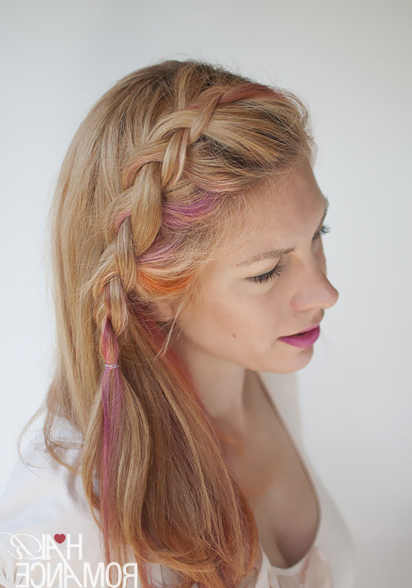 Side Swept Dutch Braid Hairstyle Tutorial – Hair Romance Within Current Side Dutch Braid Hairstyles (View 17 of 25)
