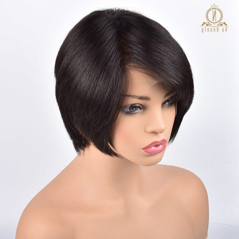 Silk Base Top Whorl 13X6 Deep Part Lace Front Human Hair In Part Pixie Part Bob Hairstyles (View 22 of 25)