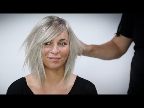 Silver Blonde Hair Color With Shadow Root Tutorial – Youtube Pertaining To Most Current Long Undercut Hairstyles With Shadow Root (View 19 of 25)