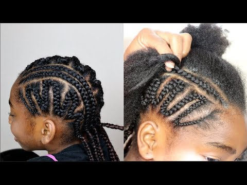 Simple Zigzag Cornrows For Kids    Protective Style With Regard To Current Zig Zag Cornrows Hairstyles (View 4 of 25)