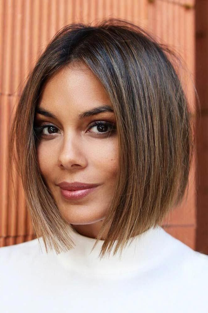 Sleek Blunt Inverted Bob #bob ?? Check Out These Easy For Sleek Blunt Bob Hairstyles (View 3 of 25)
