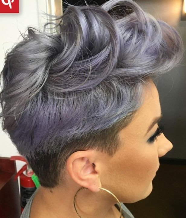 Smokey Lavender Grey Melt Short Hair #shorthairgrey | Pastel For Current Smokey Pastel Colors Pixie Haircuts (View 2 of 25)
