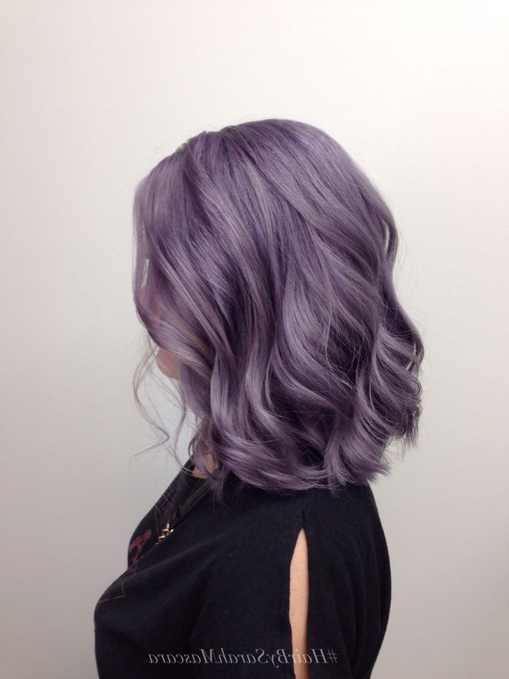 Smokey Lavender Hair | Bold Hair Color, Purple Hair, Hair Regarding Best And Newest Smokey Pastel Colors Pixie Haircuts (View 23 of 25)