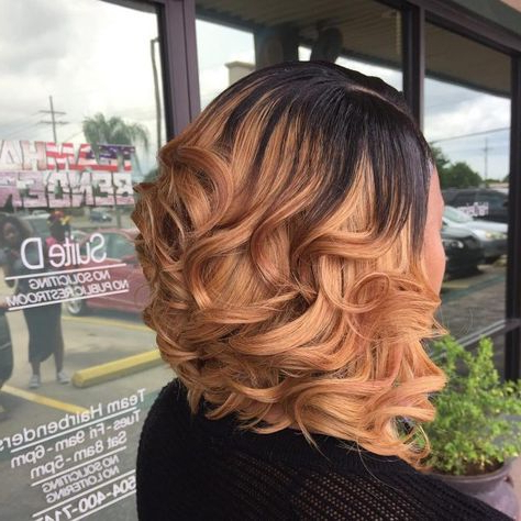 Smooth Cappuccino Curls In 2019   Black Women Hairstyles Inside Short Cappuccino Bob Hairstyles (View 6 of 25)