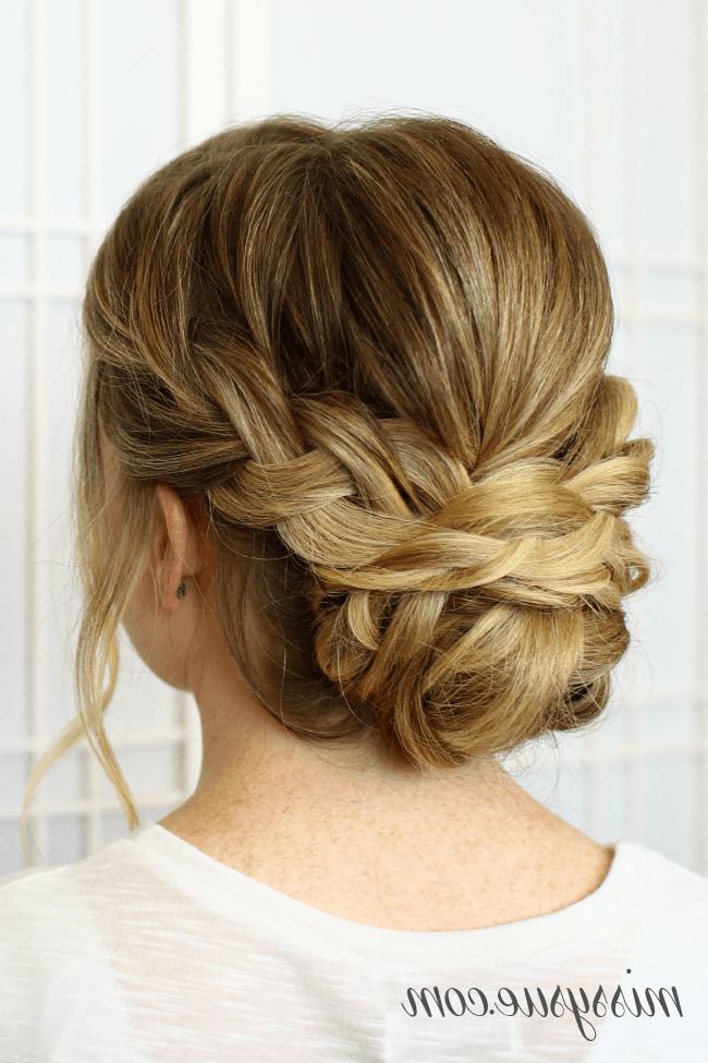 Soft Braided Updo | Hair Lengths, Updos For Medium Length Throughout Latest Plaited Chignon Braid Hairstyles (View 6 of 25)
