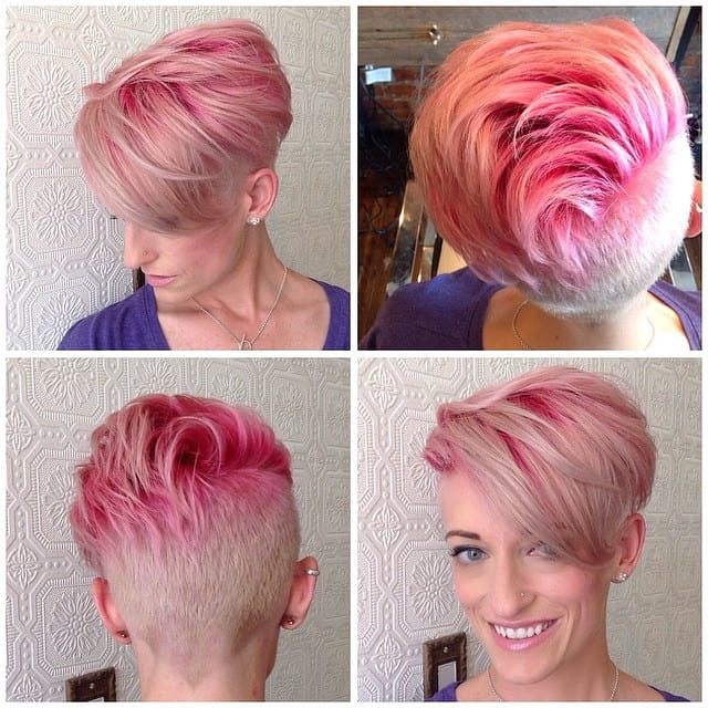 Soft Pink Undercut With Undone Textured Lengths And Bright Throughout Most Current Long Undercut Hairstyles With Shadow Root (View 5 of 25)