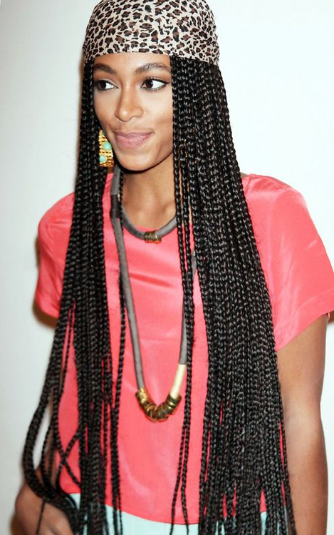 Solo + Poetic Justice Braids   Solange Braids, Rasta Hair With Best And Newest Solo Braid Hairstyles (View 3 of 25)
