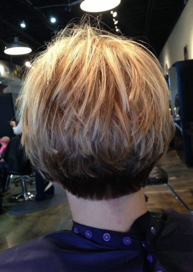 Stacked Bob Fine Hair Inverted Stacked Bob | Short Stacked Pertaining To Super Short Inverted Bob Hairstyles (View 9 of 25)