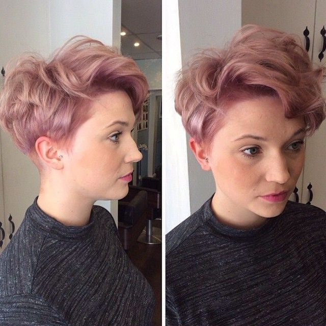 Strawberries & Cream Pixie Haircut | Pixie Haircut, Longer Pertaining To 2018 Edgy Textured Pixie Haircuts With Rose Gold Color (View 5 of 25)