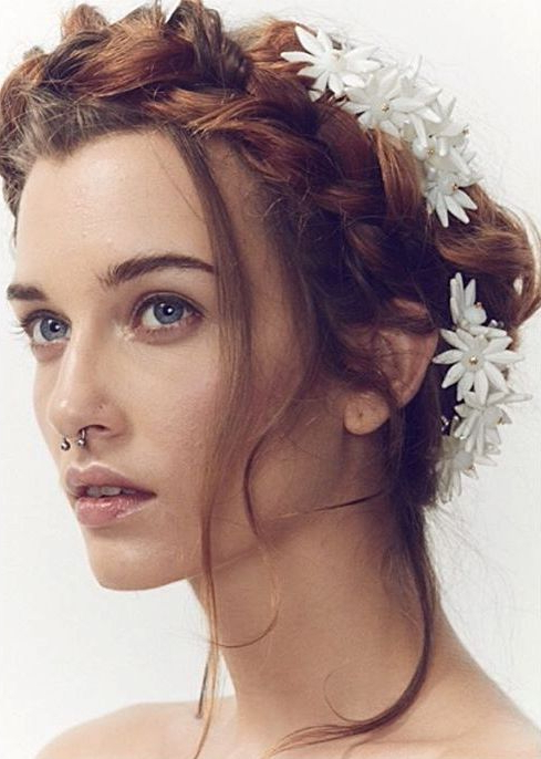 Stunning Wedding Hairstyles With Braids For Amazing Look In With Latest Milkmaid Crown Braids Hairstyles (View 20 of 25)