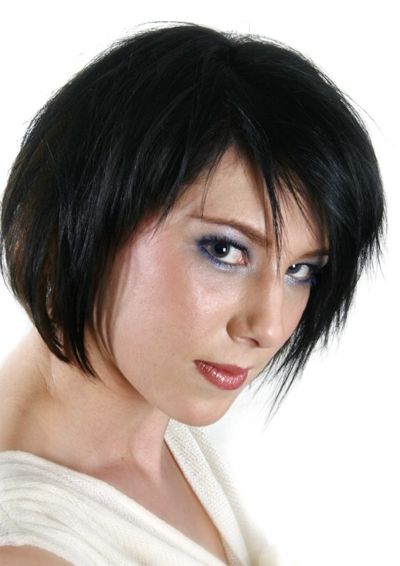 Summer Hairstyles Ranging From Short Precision Cuts To Long Hair Throughout Jagged Bob Hairstyles For Round Faces (View 22 of 25)