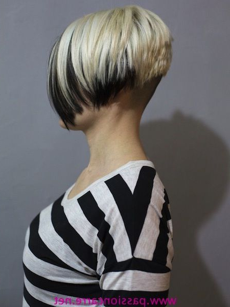 Super Short Inverted Bob With Shaved Nape (View 3 of 25)
