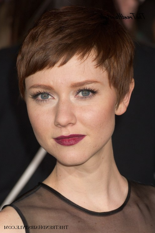Tapered Pixie With Long Bangs – Pixie Haircuts With Bangs In Recent Silver Pixie Haircuts With Side Swept Bangs (View 13 of 25)