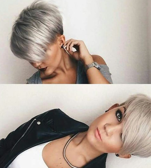 Ten Trendy Hair Cuts For Women – Motivational Trends Within Most Recently Silver Pixie Haircuts With Side Swept Bangs (View 3 of 25)