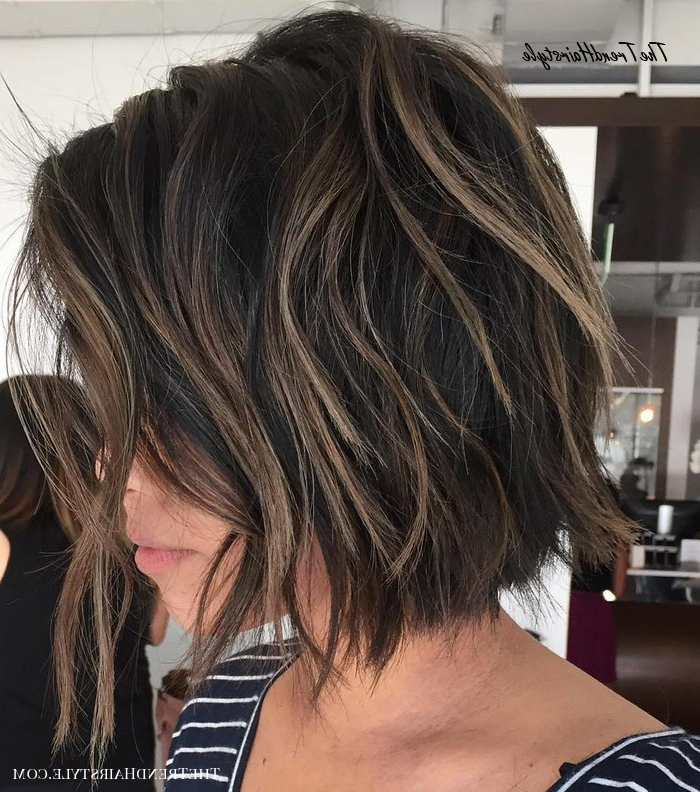 Textured Wavy Mid Length Cut – 60 Best Bob Hairstyles For Intended For Textured And Layered Graduated Bob Hairstyles (View 20 of 26)