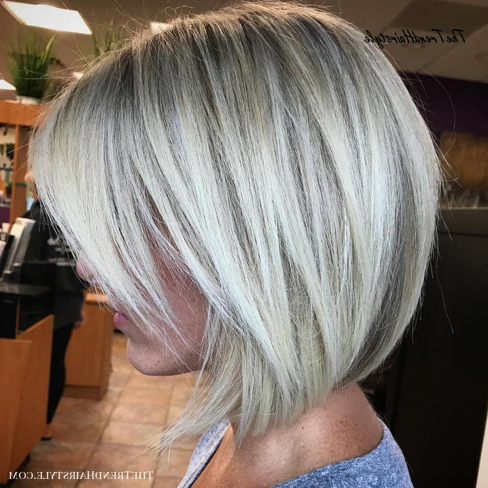 Textured Wavy Mid Length Cut – 60 Best Bob Hairstyles For Throughout One Length Short Blonde Bob Hairstyles (View 11 of 25)