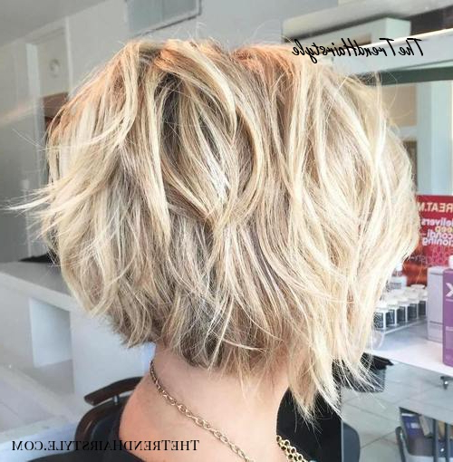 Textured Wavy Mid Length Cut – 60 Best Bob Hairstyles For With Shiny Strands Blunt Bob Hairstyles (View 18 of 25)