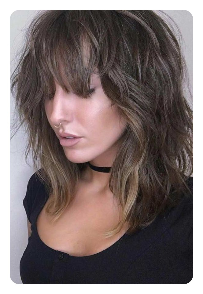 The 79 Sexiest Wispy Bangs To Inspire Your Makeover Regarding Wispy Bob Hairstyles With Long Bangs (View 7 of 25)