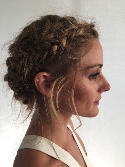 The Best French Braids On Pinterest In 2019 | Hair Styles Pertaining To Newest Messy Crown Braid Hairstyles (View 4 of 25)