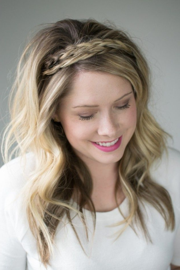 The Double Braided Headband (2 Ways To Style It!) | Headband In 2020 Full Headband Braid Hairstyles (View 4 of 25)