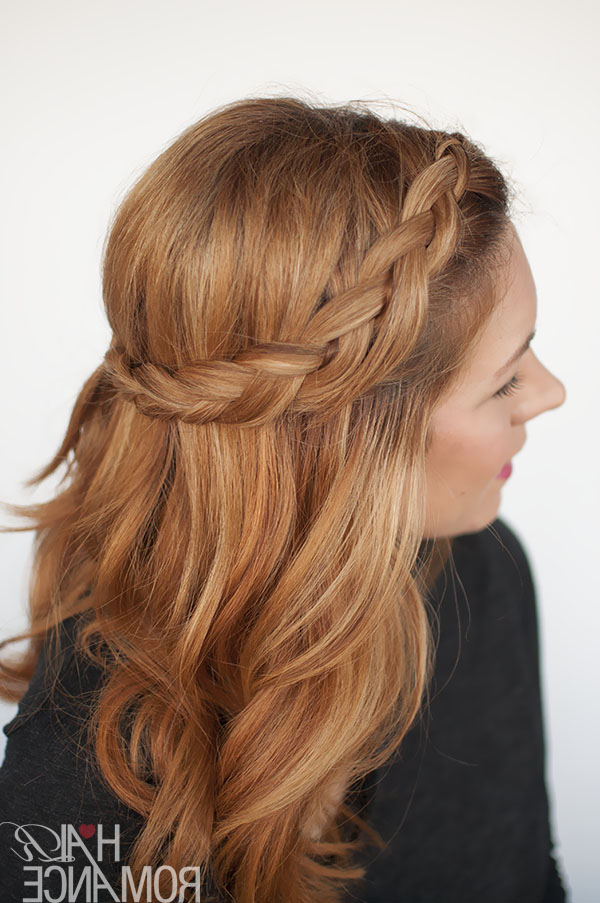 The Half Braid (It Takes Half The Time!) – Hair Romance In Latest Half Braided Hairstyles (View 4 of 25)