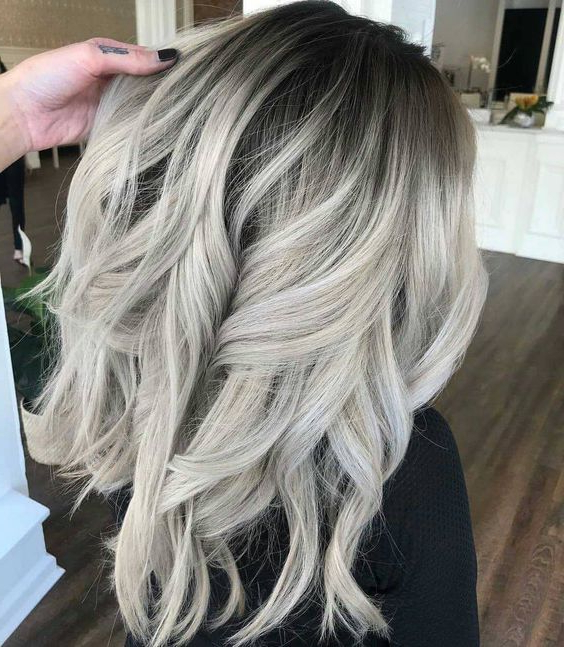 The New Platinum Blonde Is Here–And It's The Only Hair Throughout Most Recent Long Undercut Hairstyles With Shadow Root (View 18 of 25)