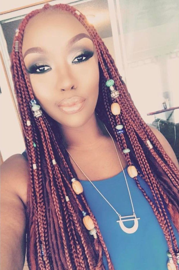 These Beaded Braid Hairstyles Will Leave You Mesmerized Pertaining To Latest Beaded Braids Hairstyles (View 10 of 25)