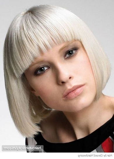 This Edgy Blunt Bob Hair Style Will Provide Your Features For Sharp And Blunt Bob Hairstyles With Bangs (View 5 of 25)