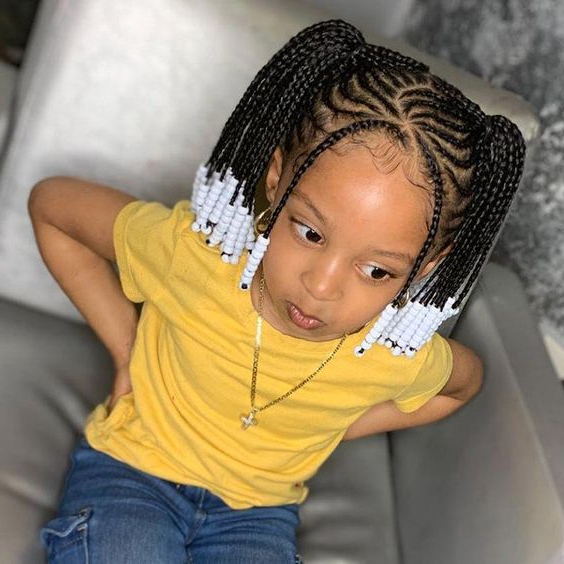Toddler Braided Hairstyles With Beads For Cute Girls With Most Current Beaded Braids Hairstyles (View 12 of 25)