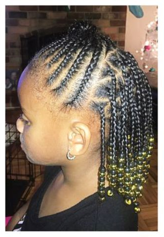 Toddler Braided Hairstyles With Beads | Toddler Braided Within Current Beaded Plaits Braids Hairstyles (View 18 of 25)