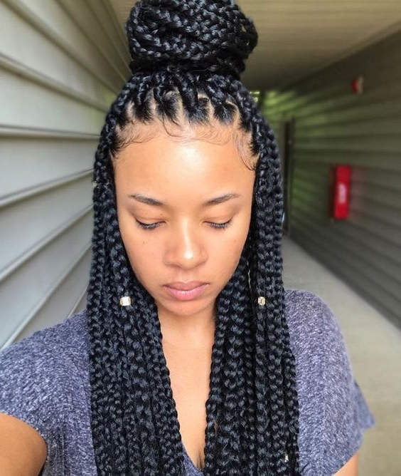 Top 10 Red Lipsticks For Black Women | Cool Braid Hairstyles In 2020 Medium Sized Braids Hairstyles (View 4 of 25)