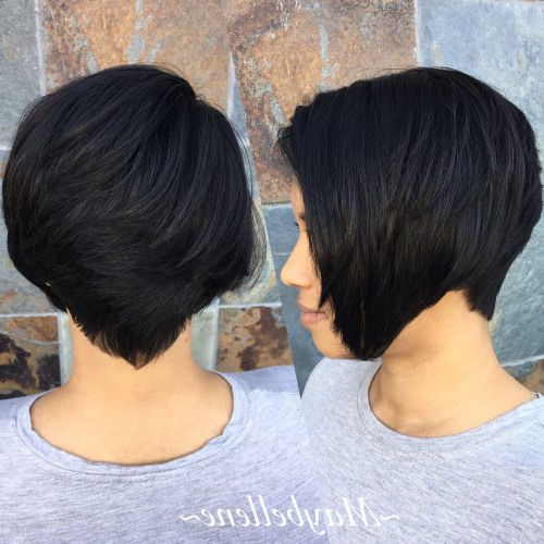 Top 17 Wedge Haircut Ideas For Short & Thin Hair In 2020 Within Wedge Bob Hairstyles (View 14 of 25)