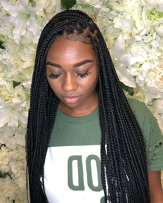 Top 20 Knotless Box Braids Hairstyles   Hairdo Hairstyle With Current Side Part Voluminous Braid Hairstyles (View 19 of 25)