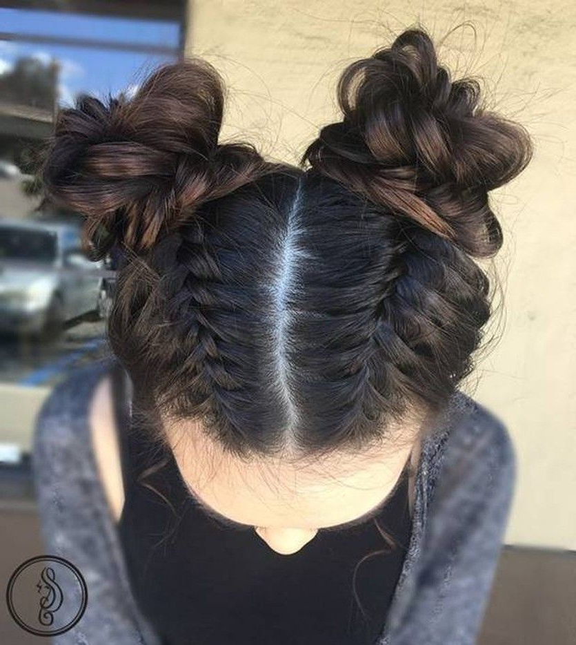 Trend Watch – Mohawk Braid Into Top Knot Half Up Hairstyles For Latest Modern Braided Top Knot Hairstyles (View 13 of 25)