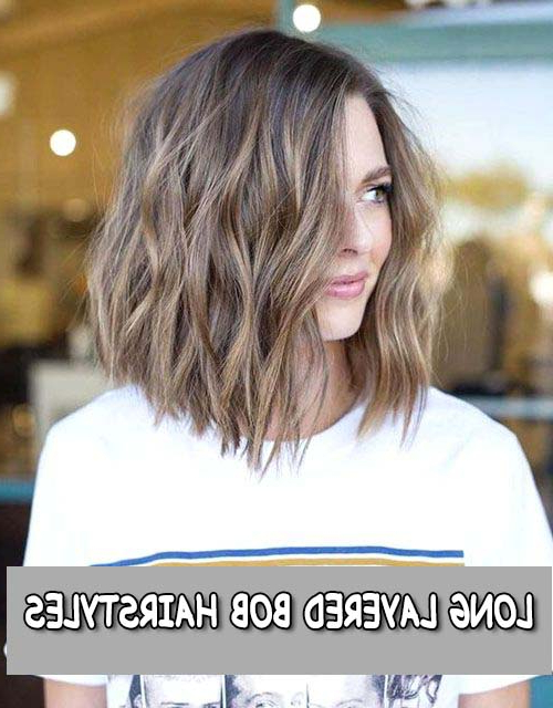 Trending Hottest Long Layered Bob Hairstyles Ifashionguy With Regard To Layered And Textured Bob Hairstyles (View 23 of 25)