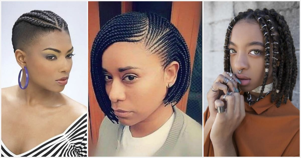 Trendy Braids For Short Natural Hair To Rock In 2018 For Most Current Side Shaved Cornrows Braids Hairstyles (View 19 of 25)