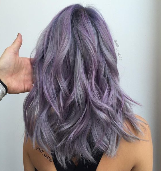 Try Experimenting With Smokey Pastel Color | Lavender Hair Pertaining To Current Smokey Pastel Colors Pixie Haircuts (View 15 of 25)