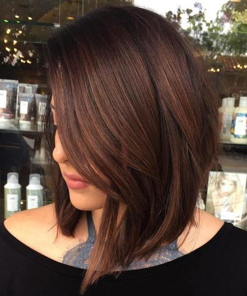 Versatile A Line Lob Shaggy Hairstyles 2018 For Women | Long For Versatile Lob Bob Hairstyles (View 3 of 25)