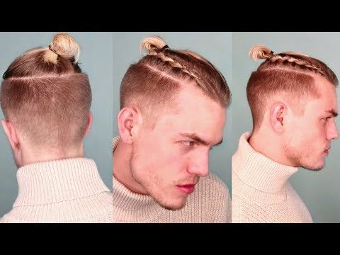 Viking Braided Top Knot/man Bun | Stepstep – Youtube For Most Recently Braided Topknot Hairstyles (View 24 of 25)