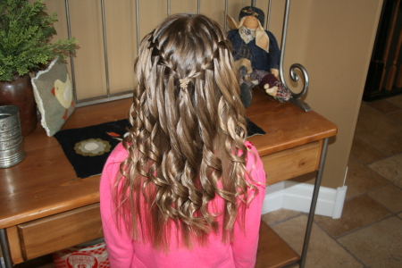 Waterfall Braid With Spiral Curls | Cute Hairstyles | Cute Within 2020 Loose Spiral Braid Hairstyles (View 9 of 25)