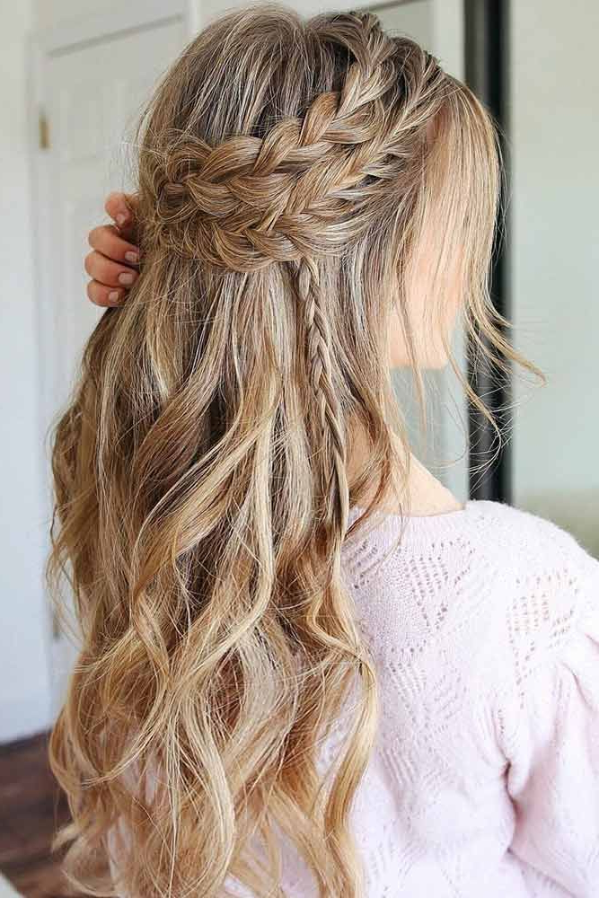 Featured Photo of Headband Braid Hairstyles With Long Waves